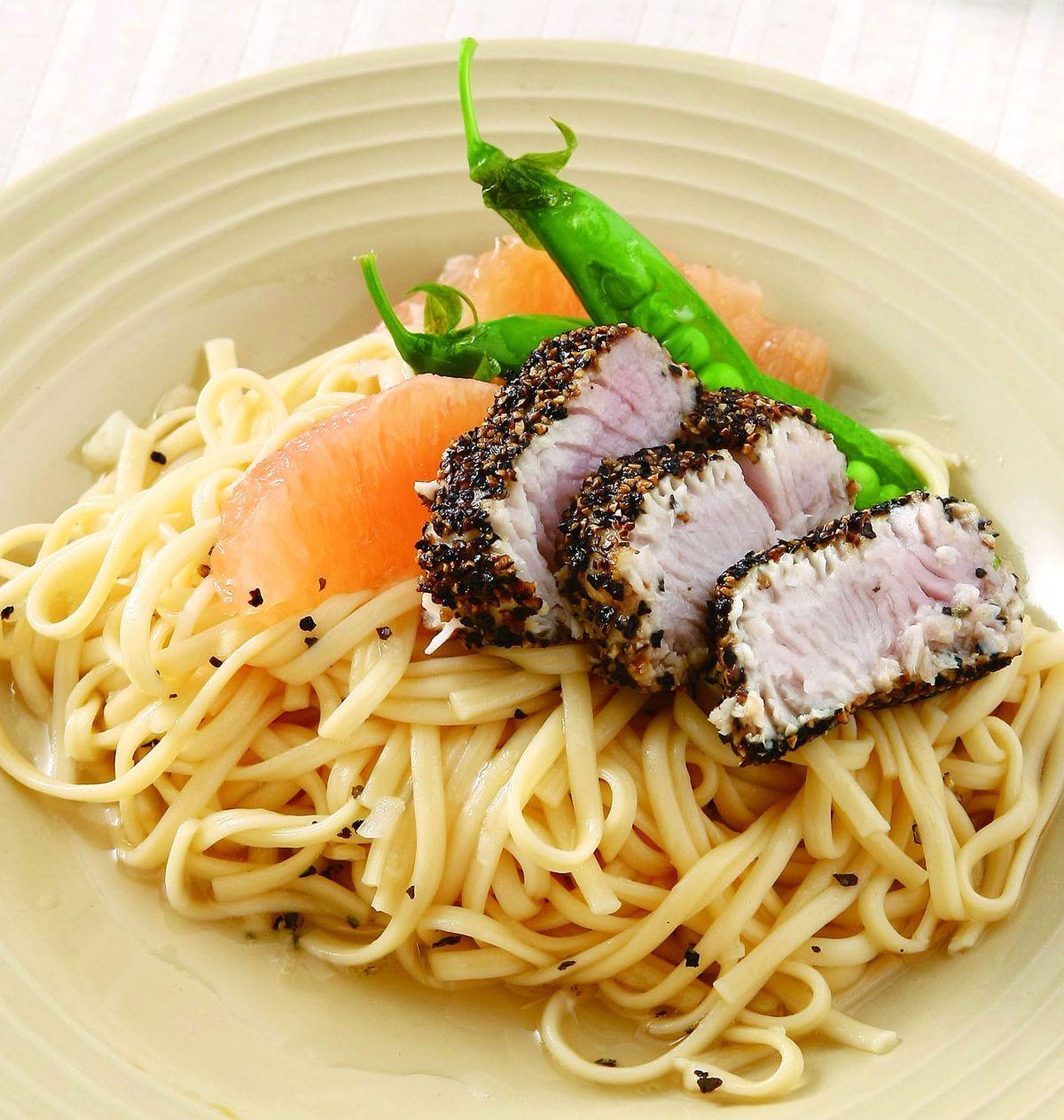 食譜:涼拌鮪魚義大利麵