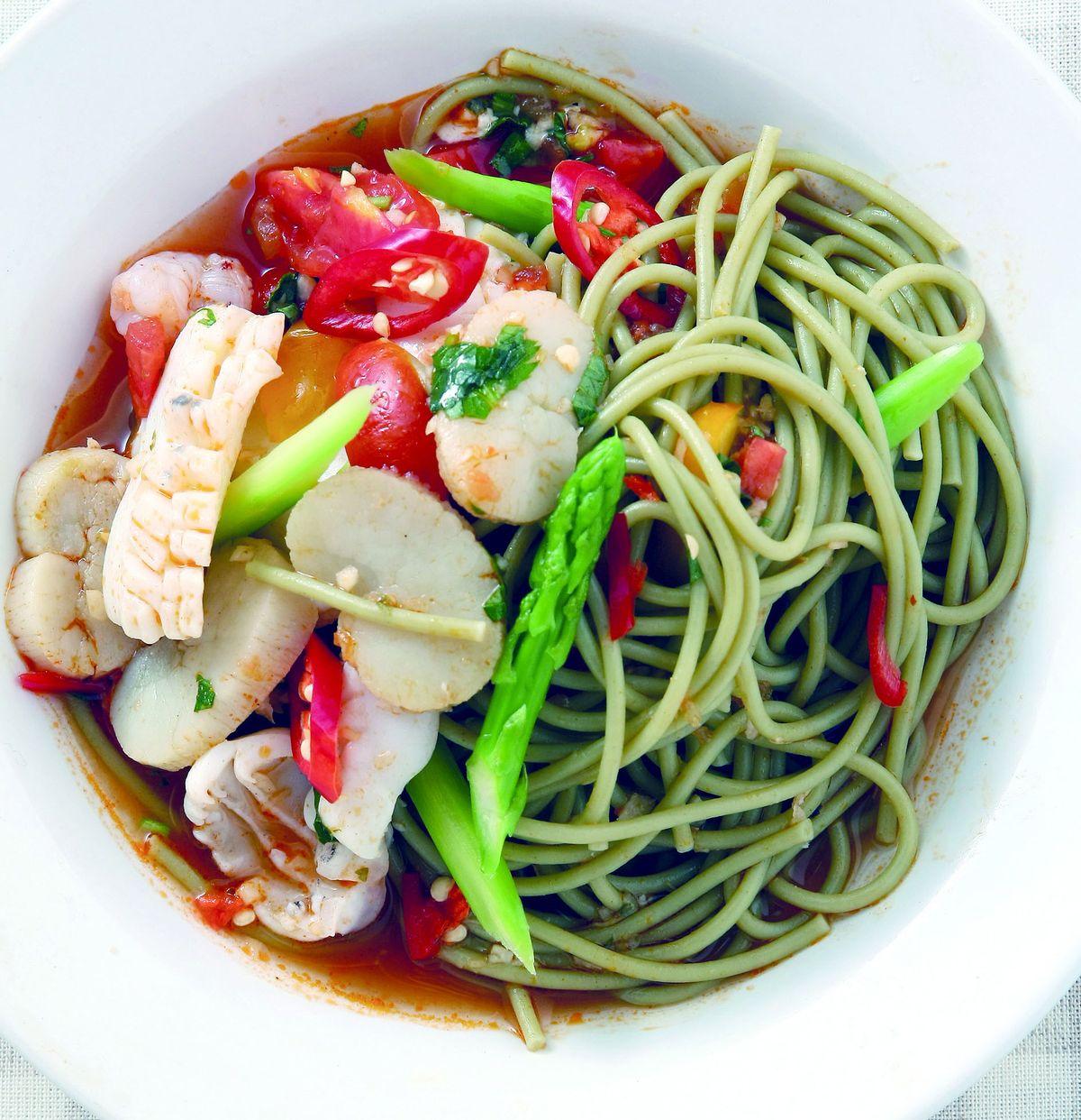 食譜:南洋風味義大利麵
