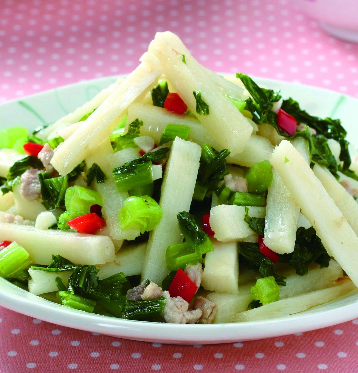 食譜:雪菜炒麻竹筍