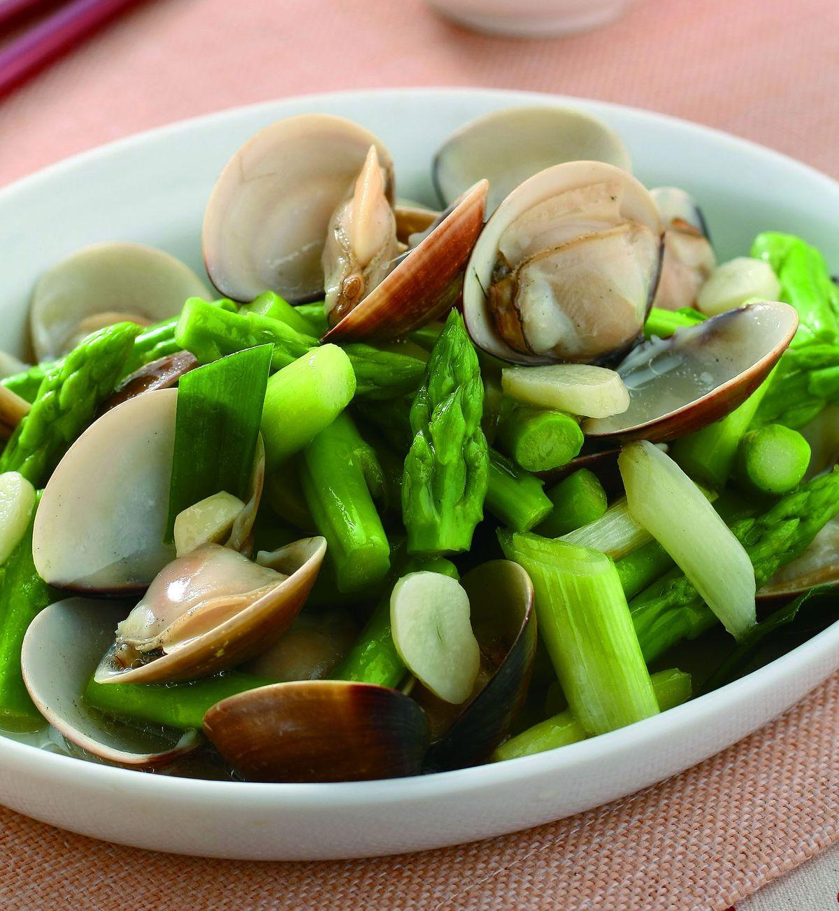 食譜:蘆筍炒蛤蜊