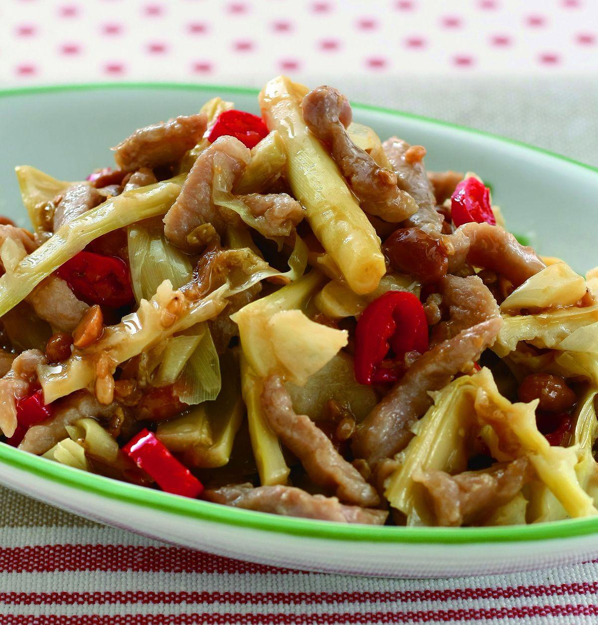 食譜:豆醬炒桂竹筍