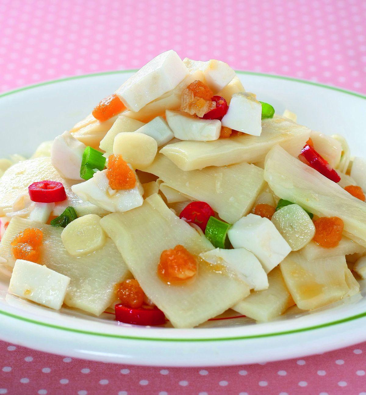 食譜:鹹蛋炒筍片