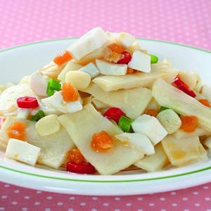 鹹蛋炒筍片