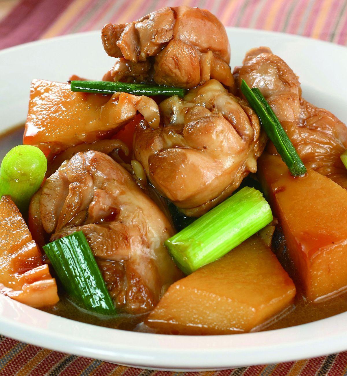 食譜:竹筍燜雞腿