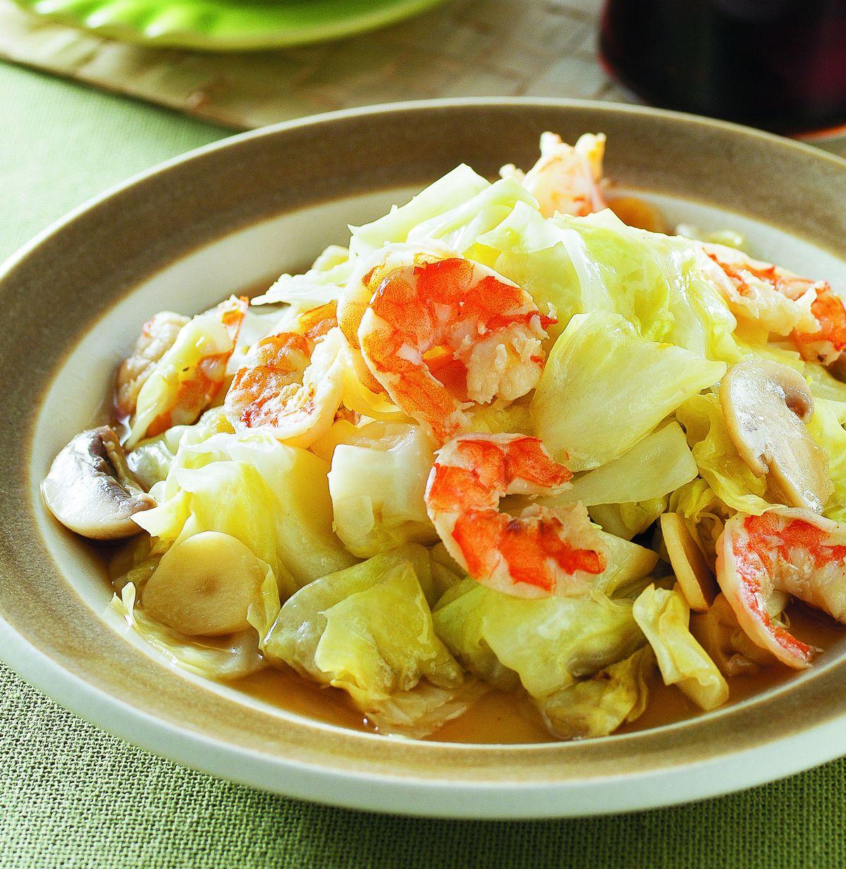 食譜:蝦片高麗菜