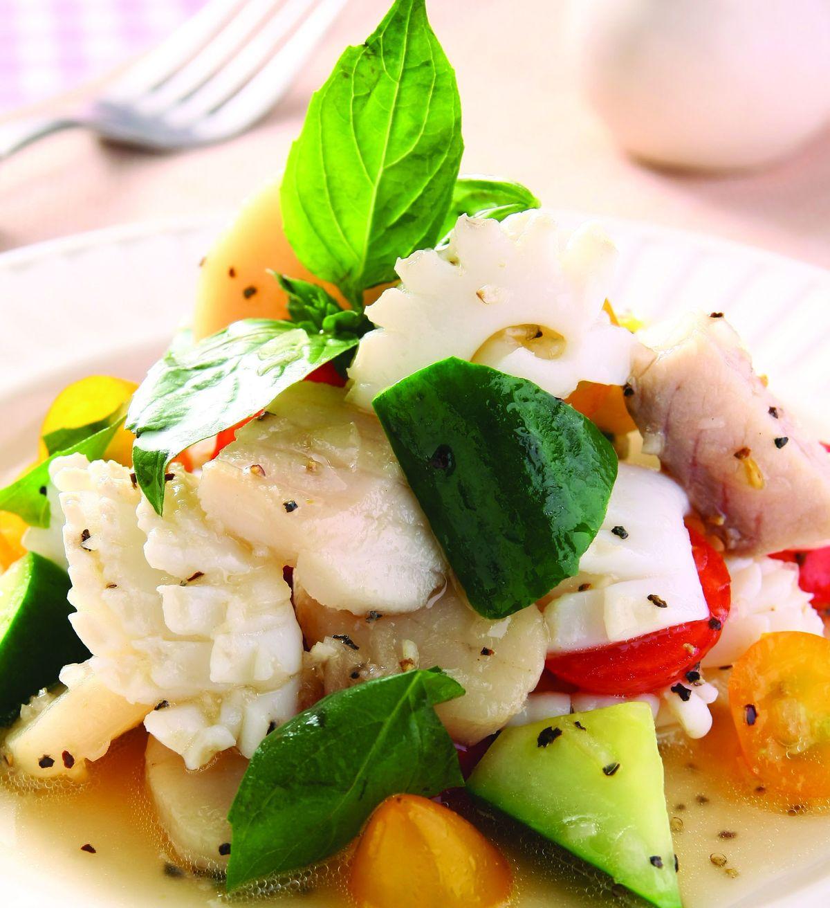 食譜:涼拌海鮮(2)