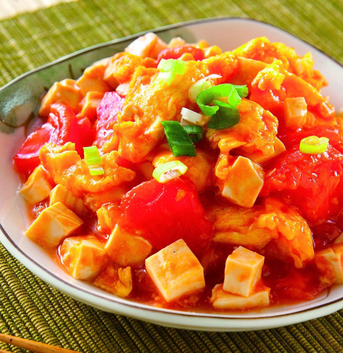食譜:蕃茄炒豆腐炒蛋