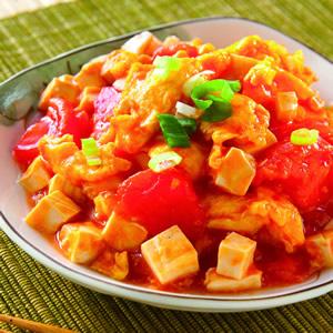 蕃茄炒豆腐炒蛋