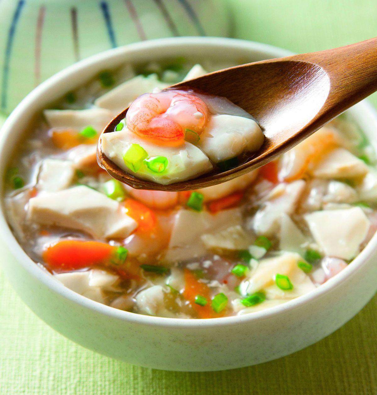食譜:海鮮豆腐羹