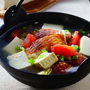 蕃茄豆腐魚湯