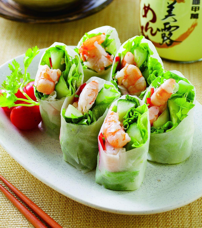 食譜:越式鮮蝦粉皮捲