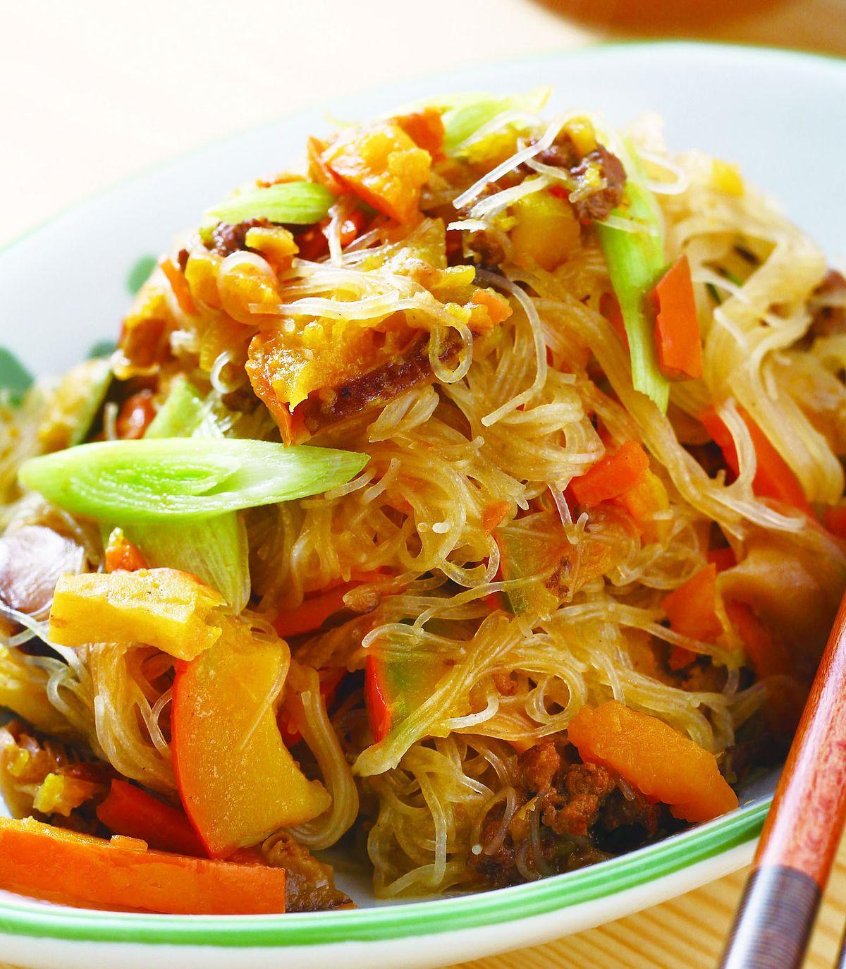 食譜:肉醬金瓜炒米粉
