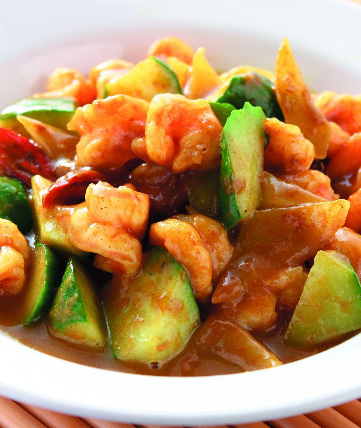 食譜:沙茶咖哩炒鮮蝦