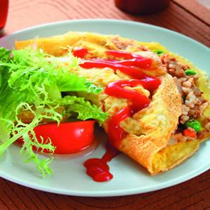 鮪魚蔬菜薄蛋包飯