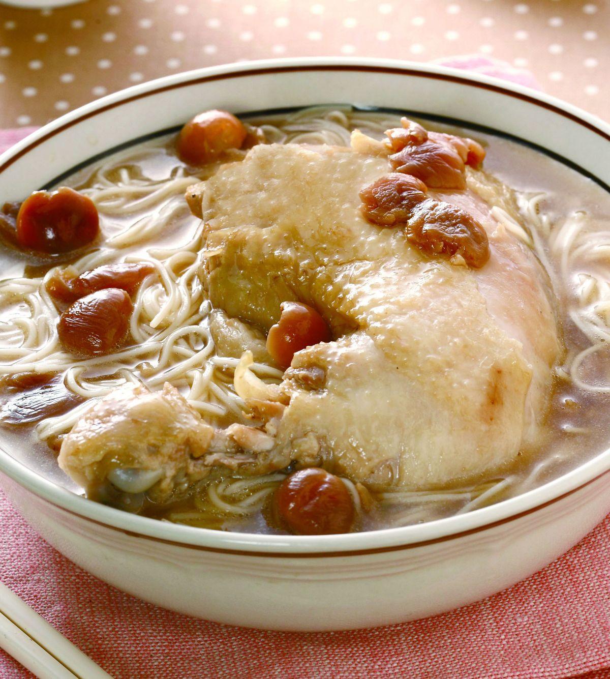 食譜:中將福圓雞腿麵線