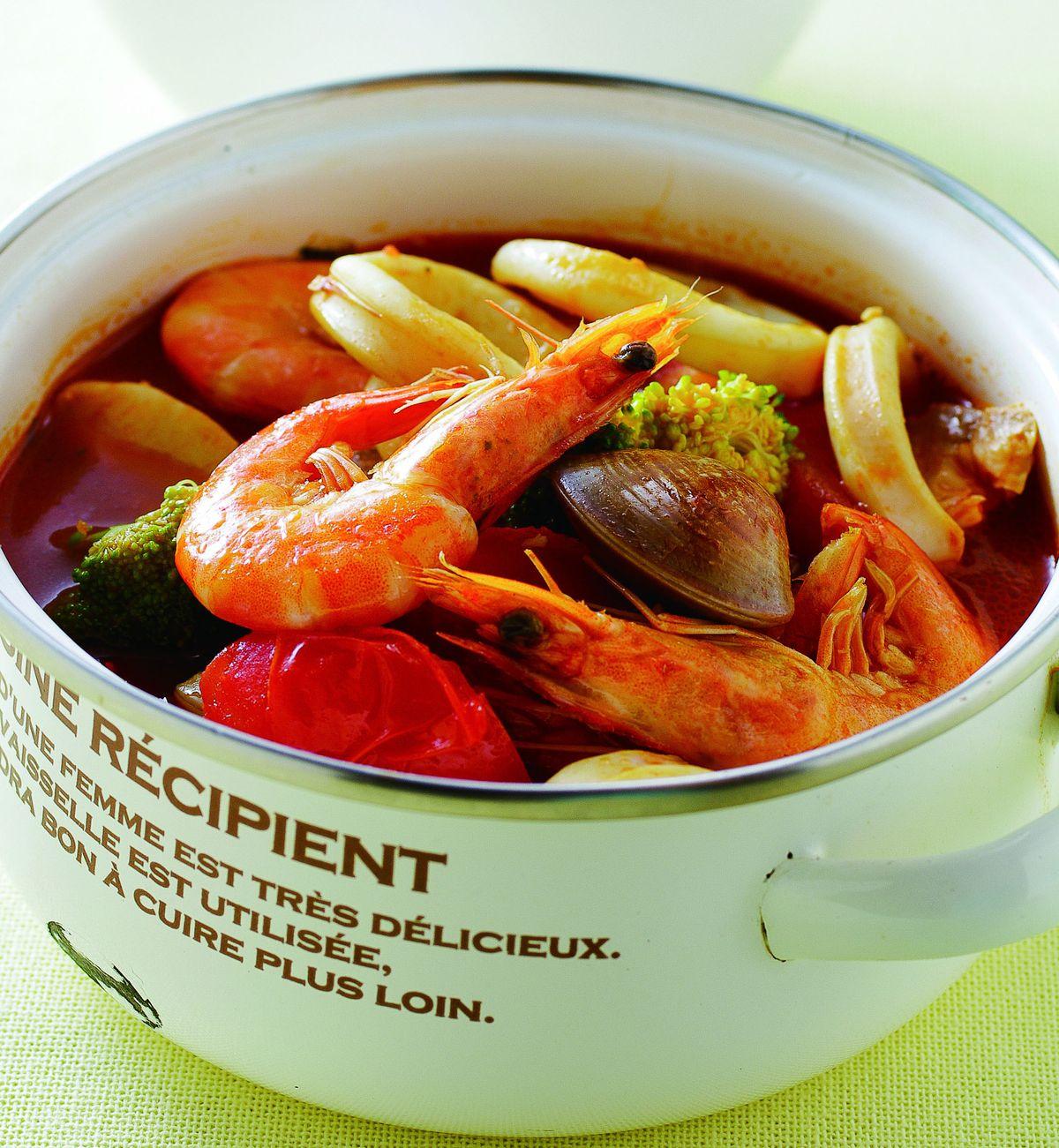 食譜:蕃茄海鮮煲
