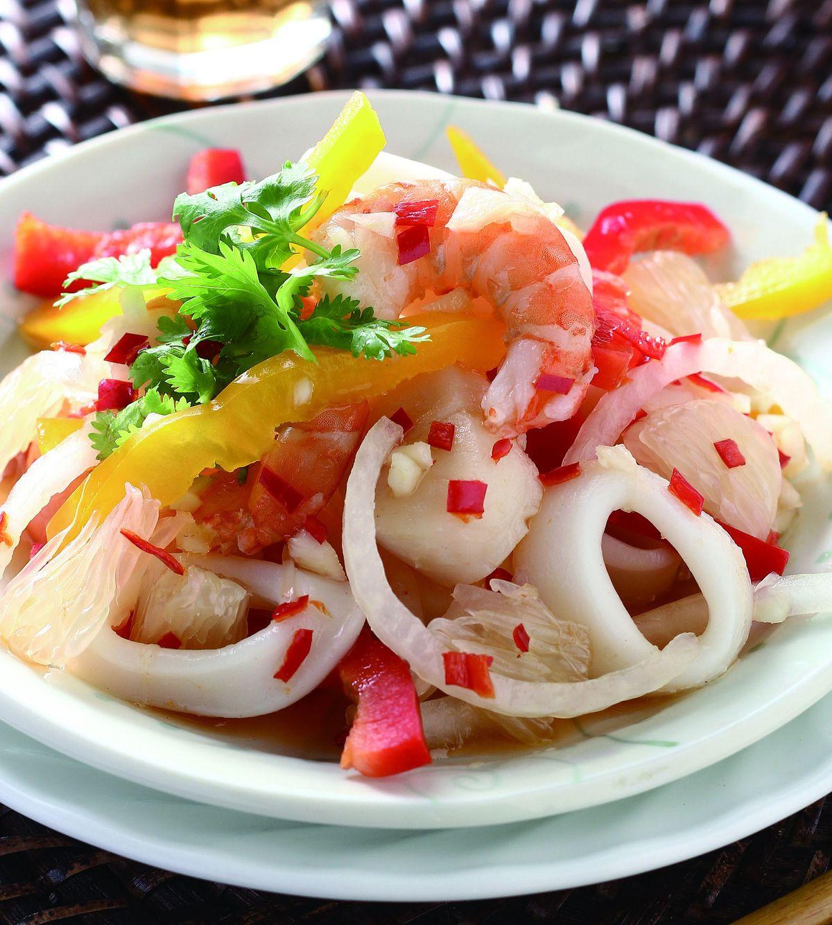 食譜:泰式柚香海鮮