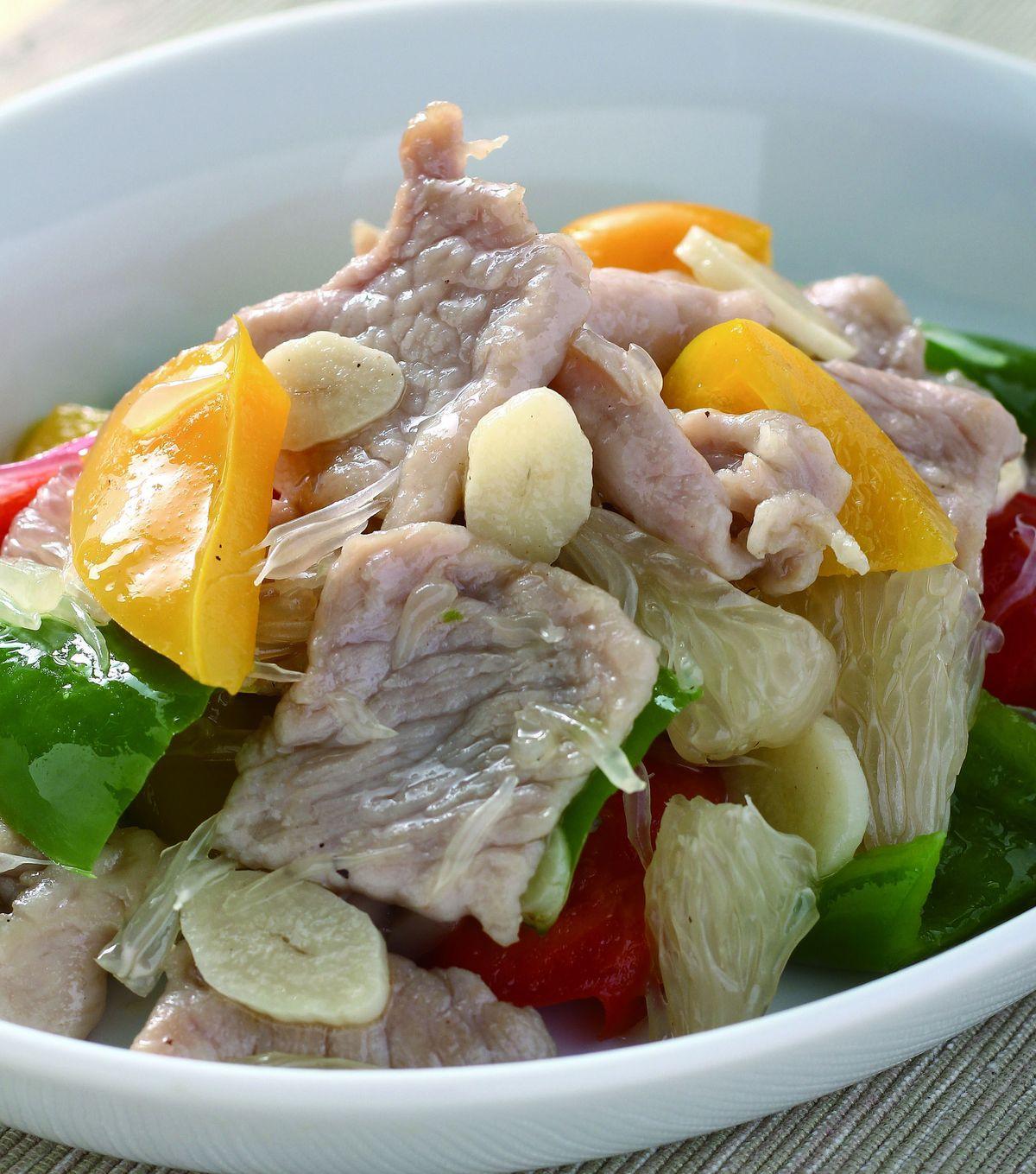 食譜:彩椒柚子肉片