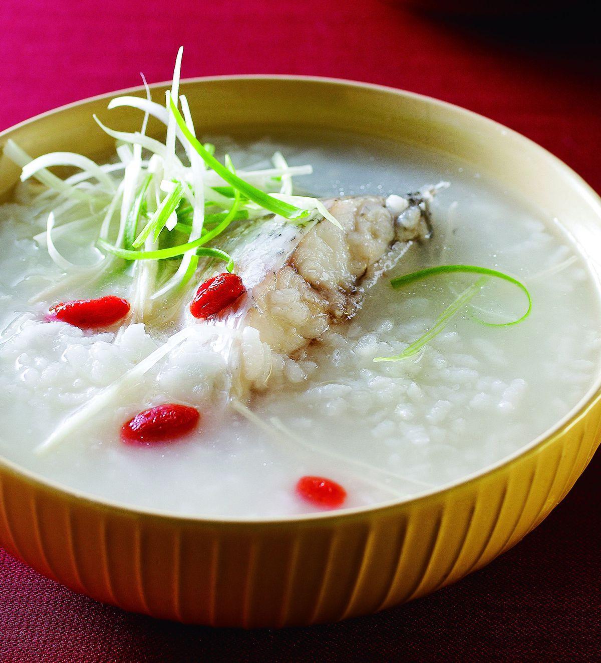 食譜:枸杞鱸魚粥