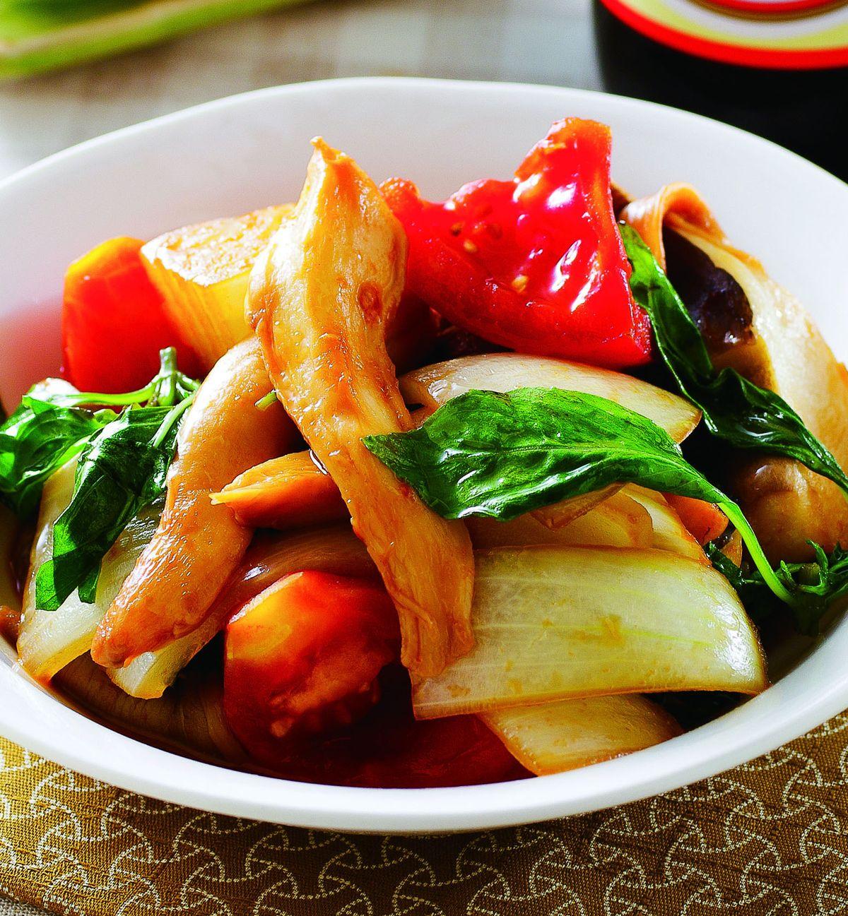 食譜:塔香鮮菇燒蕃茄