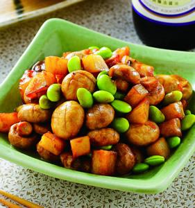 奶油蘑菇炒毛豆