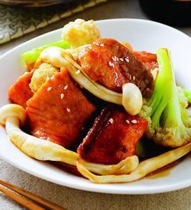 鮮蔬燒鮭魚