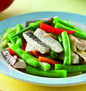 四季豆炒虱目魚