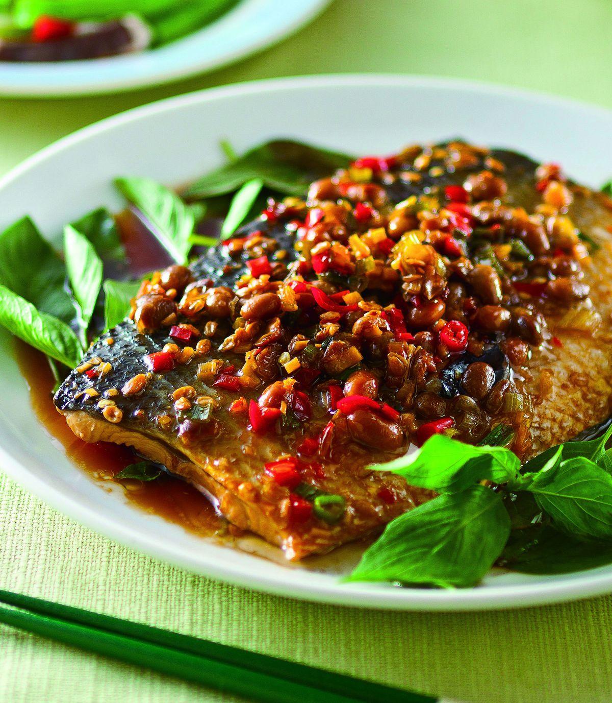 食譜:豆醬塔香虱目魚