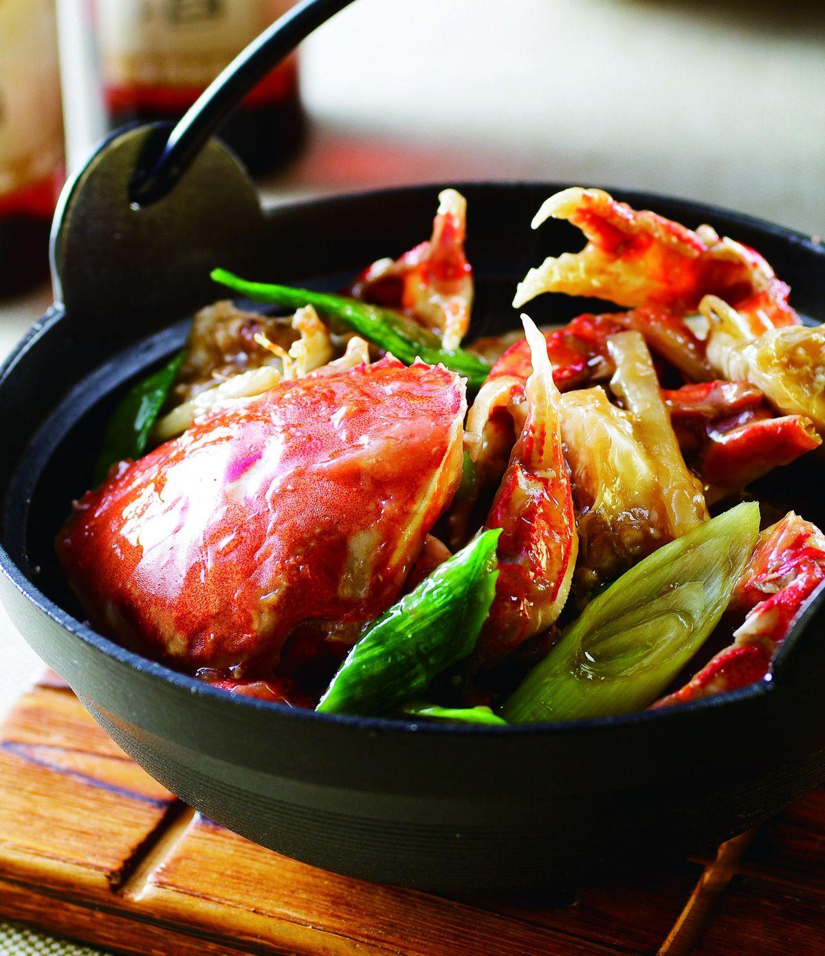 食譜:薑絲螃蟹