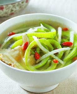 養生蟹黃絲瓜麵