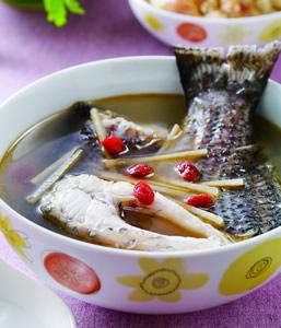 麻油鱸魚湯