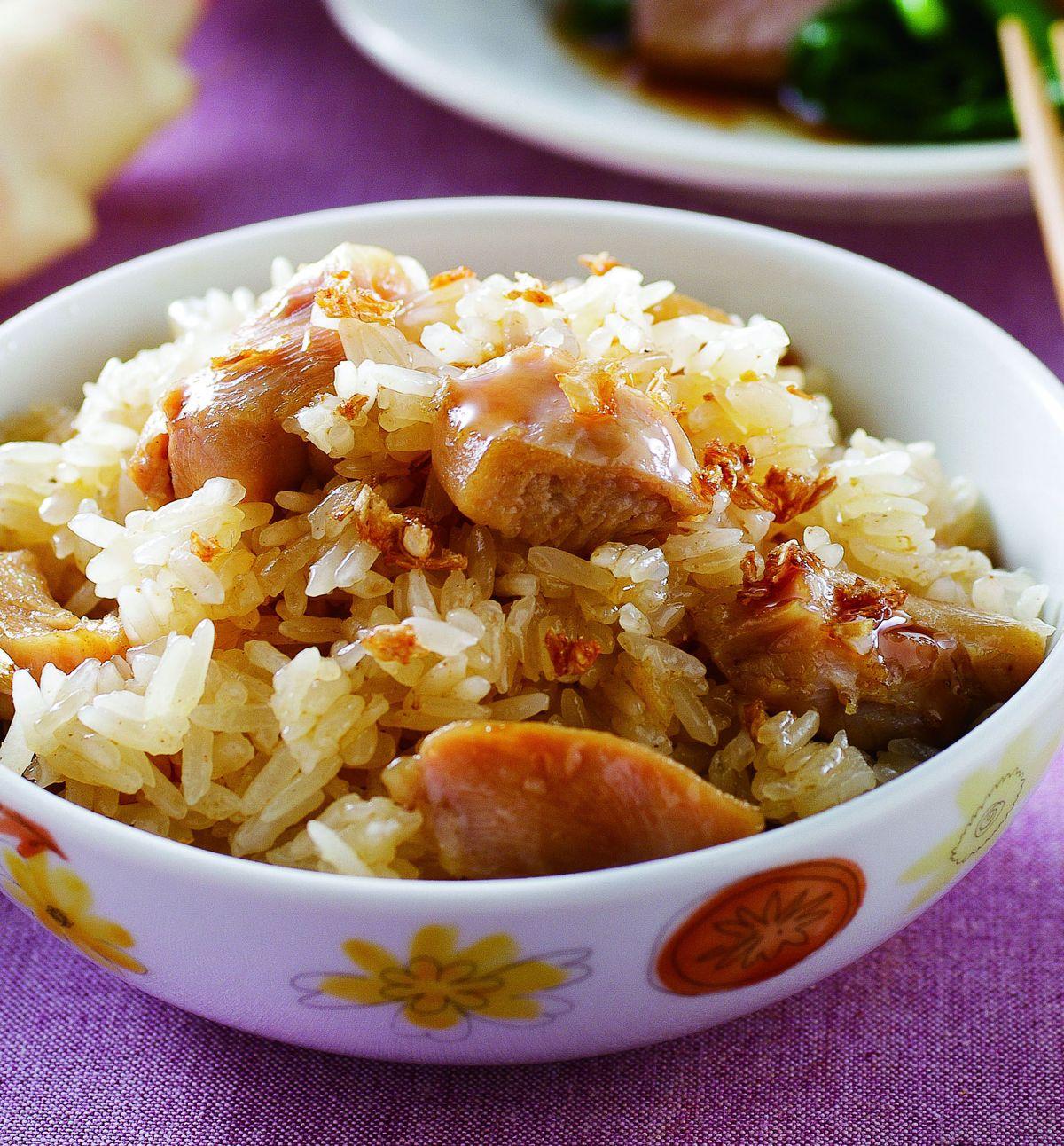 食譜:麻油雞油飯(2)