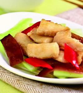 麻油西芹炒魚柳