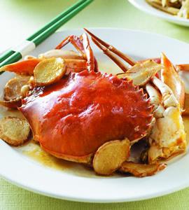 麻油炒螃蟹