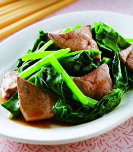 麻油菠菜炒豬肝