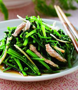 麻油肉絲炒茴香(1)