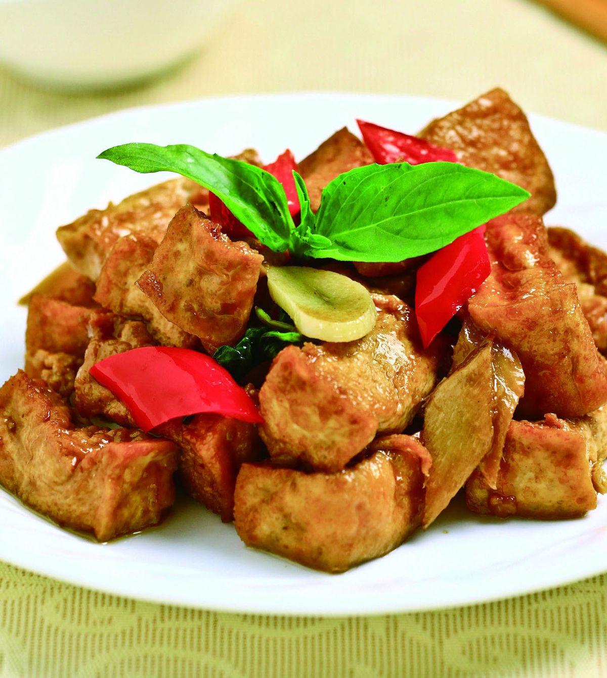 食譜:三杯豆腐(2)