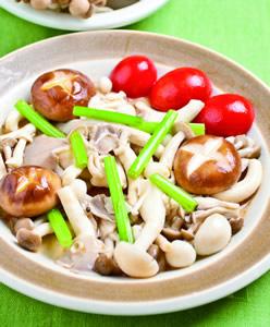 麻油炒綜合菇