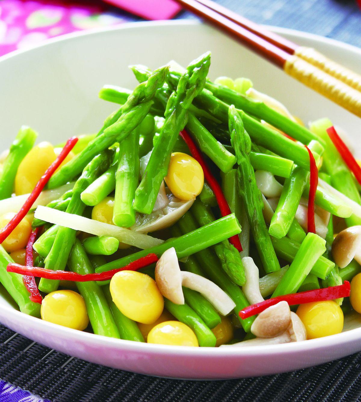 食譜:白果炒蘆筍