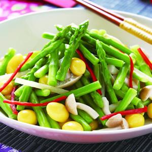 白果炒蘆筍