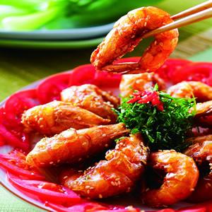 芝麻甜醬乾燒蝦