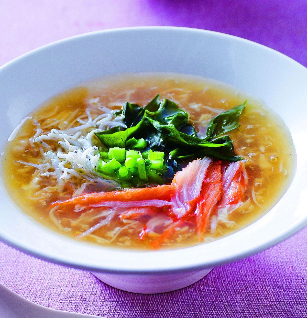 食譜:翠藻吻魚干貝羹