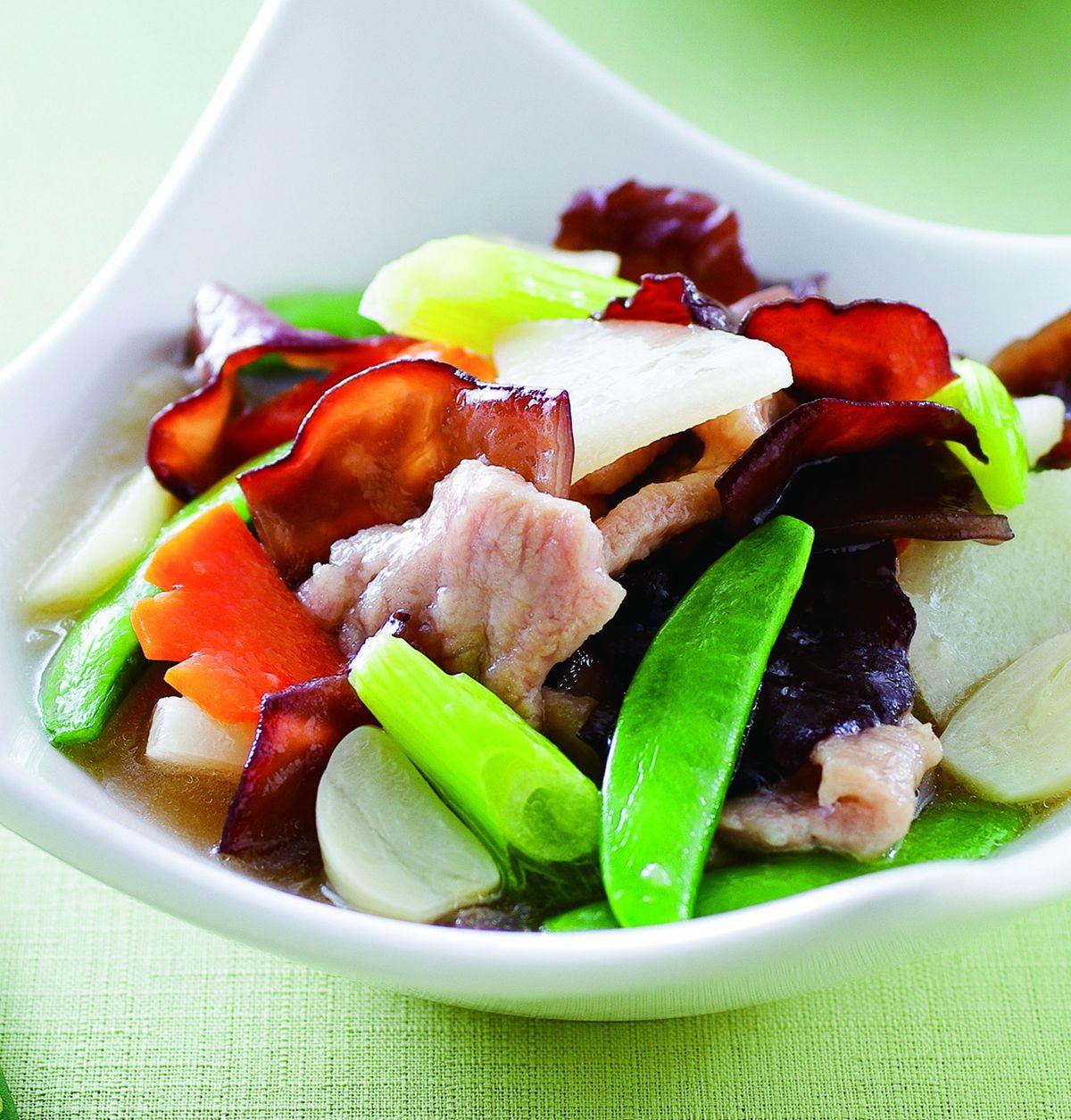 食譜:黑木耳燴肉片