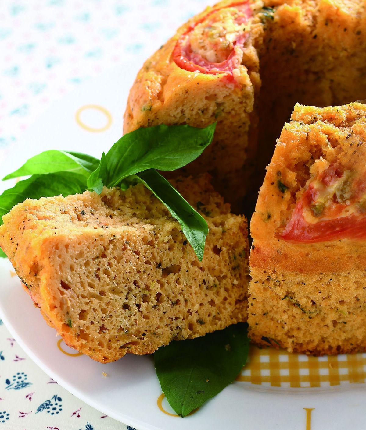 食譜:蕃茄羅勒鹹味蛋糕