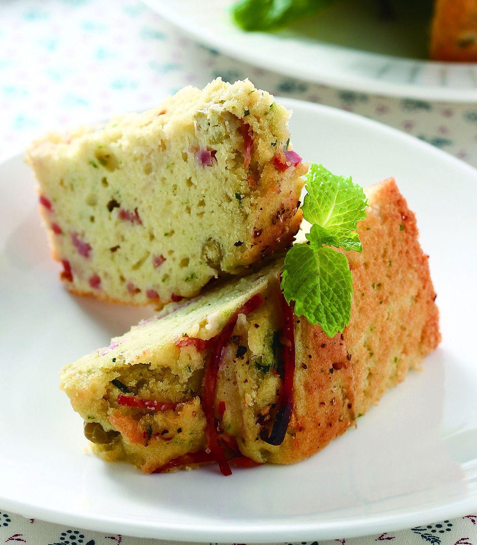 食譜:香甜薄荷豌豆鹹味蛋糕