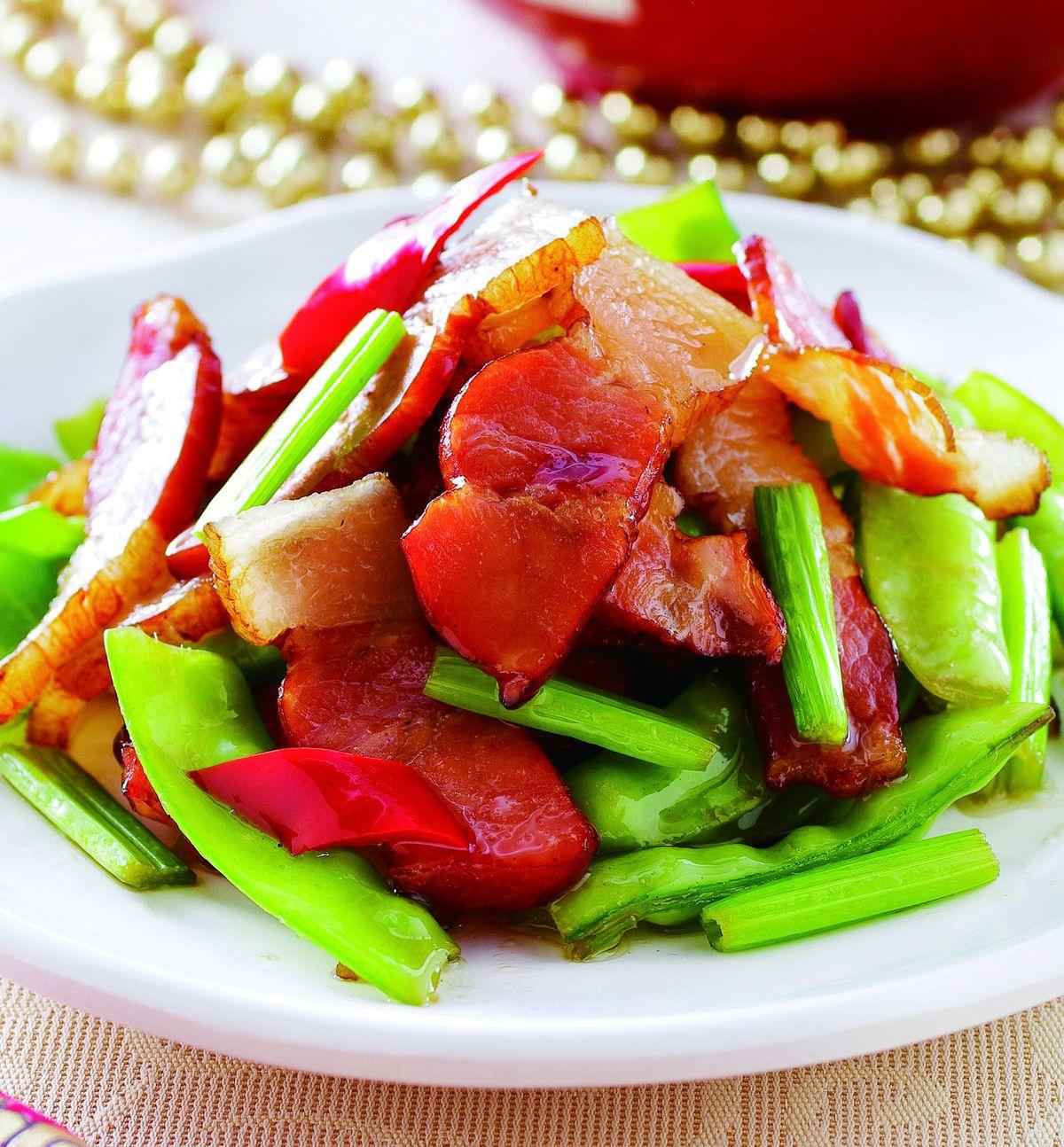 食譜:荷芹炒臘肉