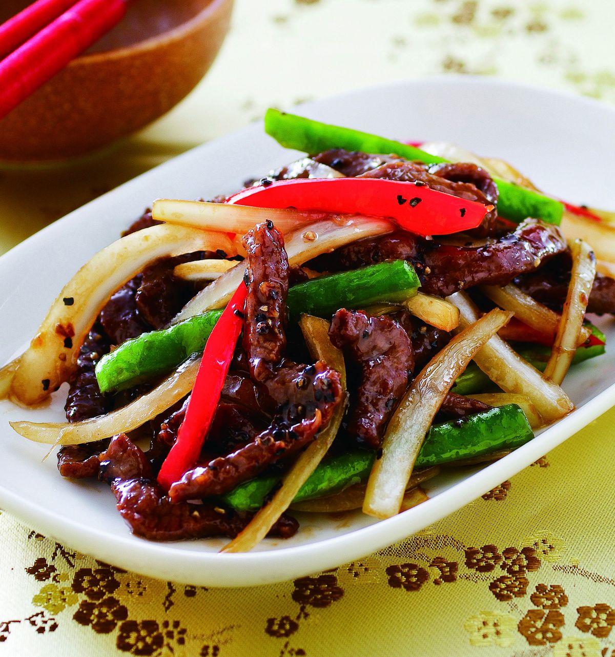 食譜:黑椒牛柳(5)