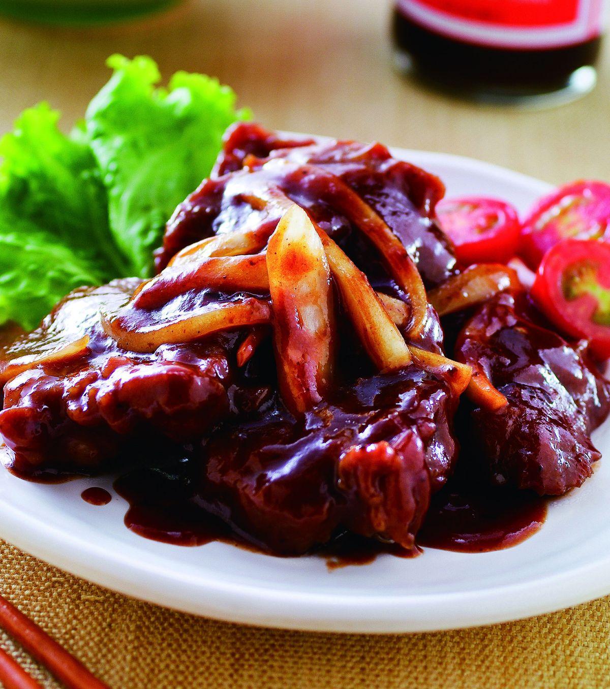 食譜:中式牛排