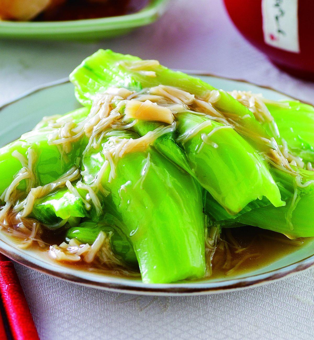 食譜:干貝扒芥菜