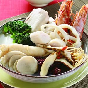 藥膳海鮮蔬菜鍋